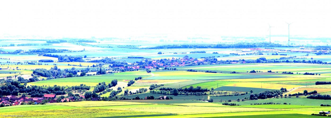 fränkische Landschaft verfremdet